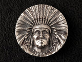 Native American Chief Button - Holy Buyble