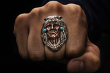 Native American Bear Head Ring - Holy Buyble
