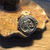 Native American Skull Silver Ring - Holy Buyble