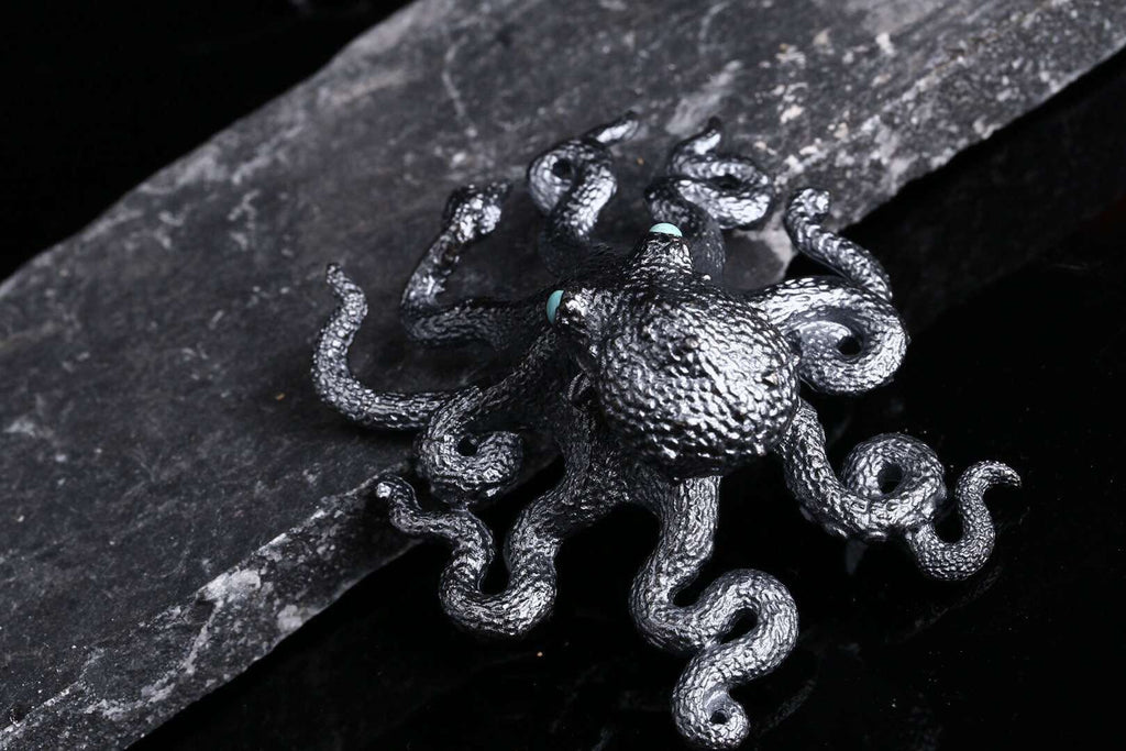 Gem Embellished Octopus Pendant - Holy Buyble