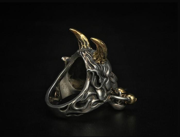 Japanese Demon Oni Ring - Holy Buyble