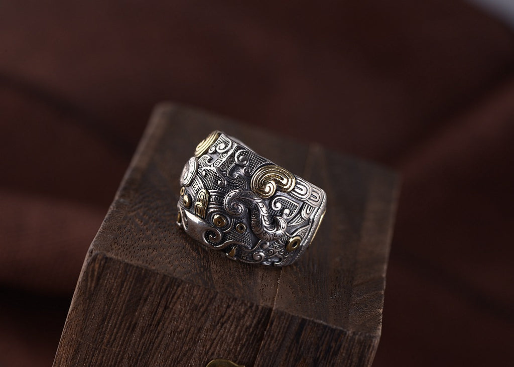 Tribal Wild Yak Ring - Holy Buyble