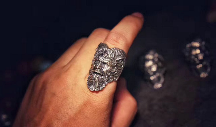 Horned Pan Faun Ring - Holy Buyble