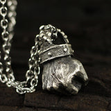 Power Fist Muscle Boxing Fitness Pendant Necklace