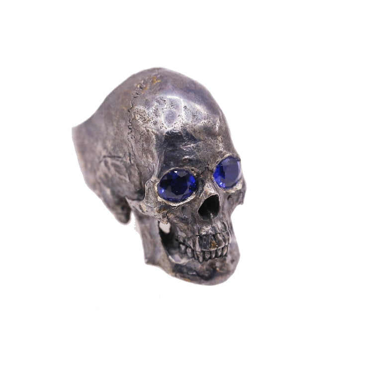 Oxidated Black Ghost Skull Ring - Holy Buyble