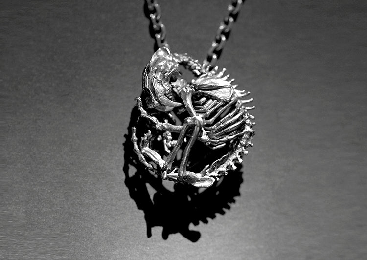 Saber-toothed Tiger Skeleton Necklace - Holy Buyble