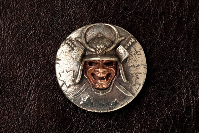 Japanese Samurai Mask Button - Holy Buyble