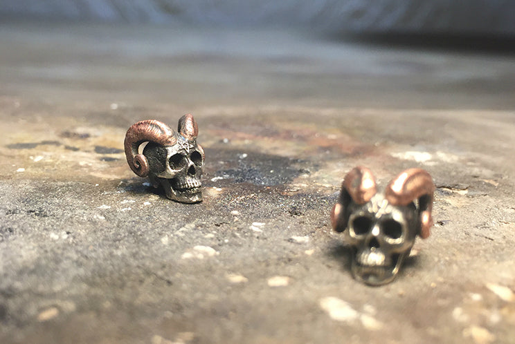 Horned Skull Satan Earring - Holy Buyble