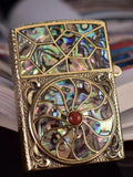 Custom Floral Zippo Lighter Case