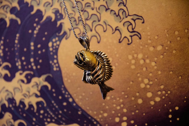 Punk Piranha Fish Skeleton Pendant - Holy Buyble