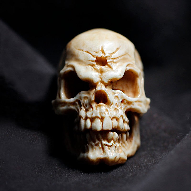 Deer Antler Decayed Chitipati Skull Bead - Holy Buyble