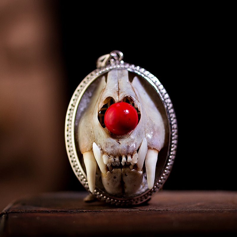 Skull Skeleton Animal Bone Beast Pendant Necklace