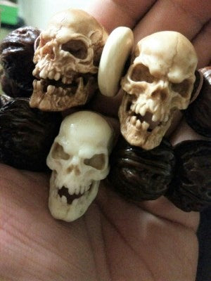 Decayed Deer Antler Skull Bead - Holy Buyble