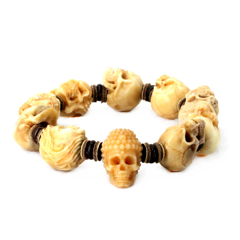 Customizable Deer Antler Skull Bracelet - Holy Buyble