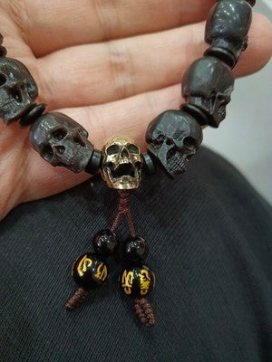 Customizable Mammoth Ivory Fossil Mystic Skull Bracelet