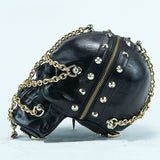 Mummy Skull Chain Studded Sling Bag - Holy Buyble