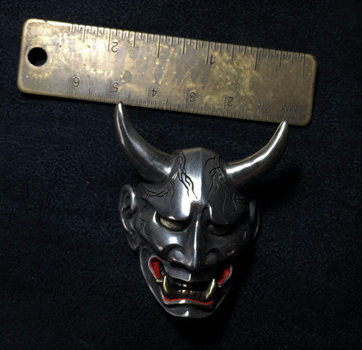 Japanese Oni Demon Silver Pendant - Holy Buyble