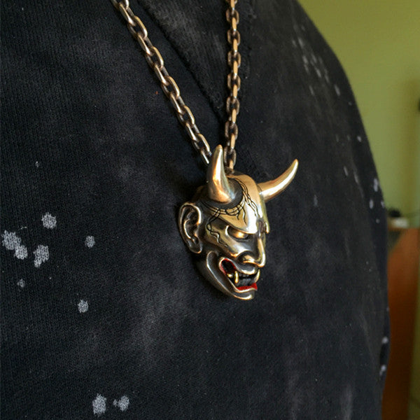Japanese oni demon silver pendant holy buyble japanese oni demon silver pendant holy buyble aloadofball Gallery