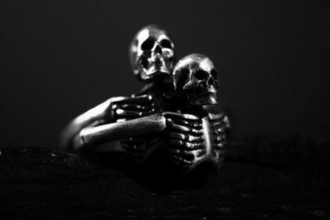 Coffin Couple Skeleton Ring
