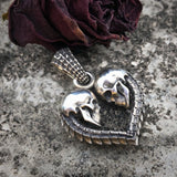 Skull Heart Necklace - Holy Buyble