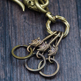 Brass Skull Hook Demon Key Ring - Holy Buyble
