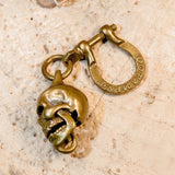 Brass Skull Key Ring - Holy Buyble