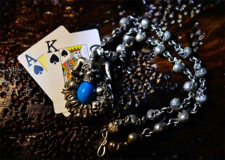 Clown King Skull Necklace - Holy Buyble