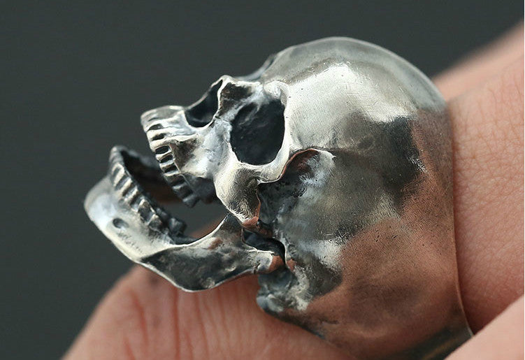 Moveable Jaw Realistic Skull Ring - Holy Buyble