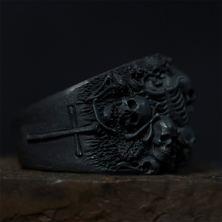 Skeleton Nightmare Master Skull Ring - Holy Buyble