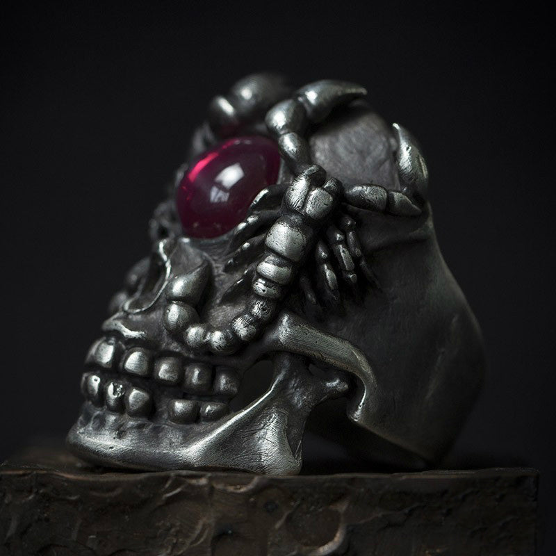 Twin Scorpion Skull Ring - Holy Buyble
