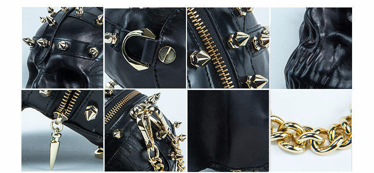 Mummy Skull Studded Sling Bag - Holy Buyble