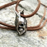 Galaxy Sheen Winged Skull Necklace - Holy Buyble
