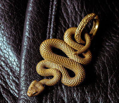 Snake Pendant Key Ring - Holy Buyble