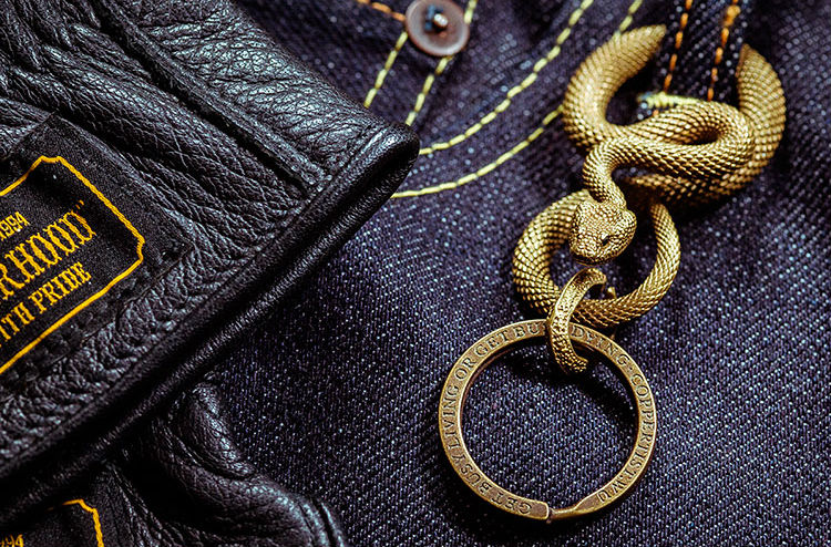 Snake Pendant Key Ring Large - Holy Buyble