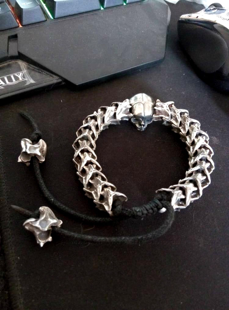 Snake Skeleton Skull Bracelet ( Customizable ) - Holy Buyble