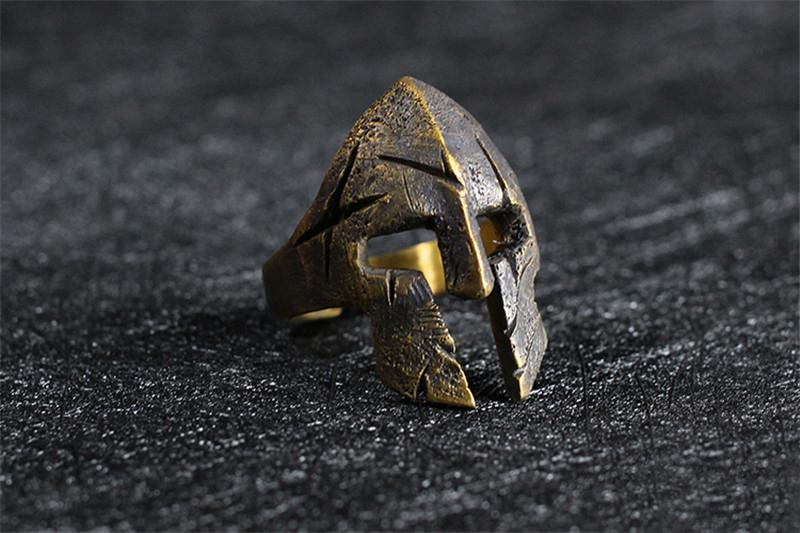 Spartacus Mask Silver Ring - Holy Buyble