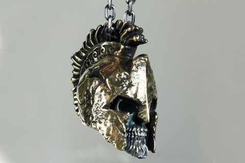 Angel Violin Skull Earring