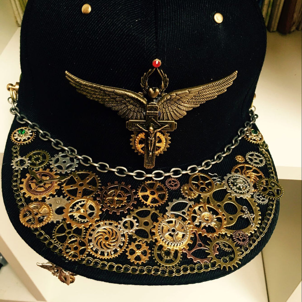 Steampunk Cross & Wings Snapback - Holy Buyble