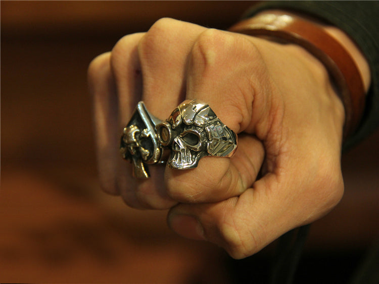 Steampunk Skull Ring - Holy Buyble