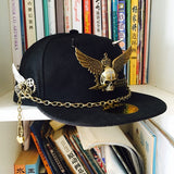 Steampunk Skull & Wings Snapback - Holy Buyble