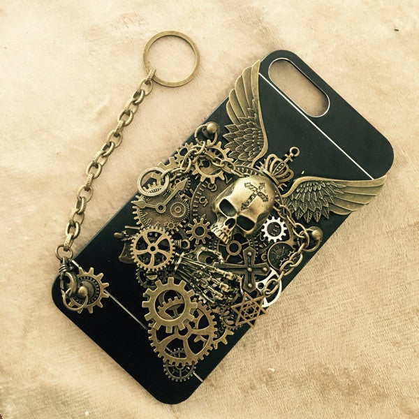 Steampunk Skull iPhone 6P & 7P Case - Holy Buyble