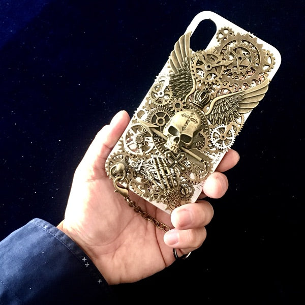 Steampunk Skull iPhone X Case - Holy Buyble