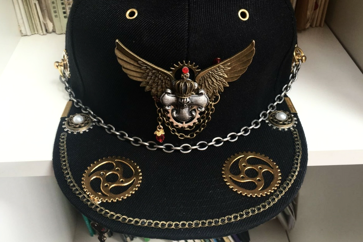 Steampunk Crossbone & Wings Snapback - Holy Buyble