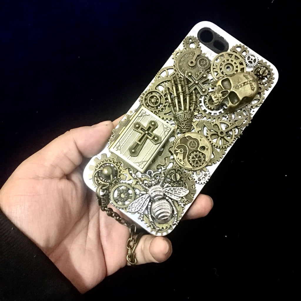 Photo Case Steampunk Skull iPhone X Cover - Holy Buyble