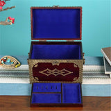Studded Treasure Chest Jewelry Box