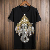 Bling Bling Crystal Glitter Elephant God Unisex T-Shirt - Holy Buyble