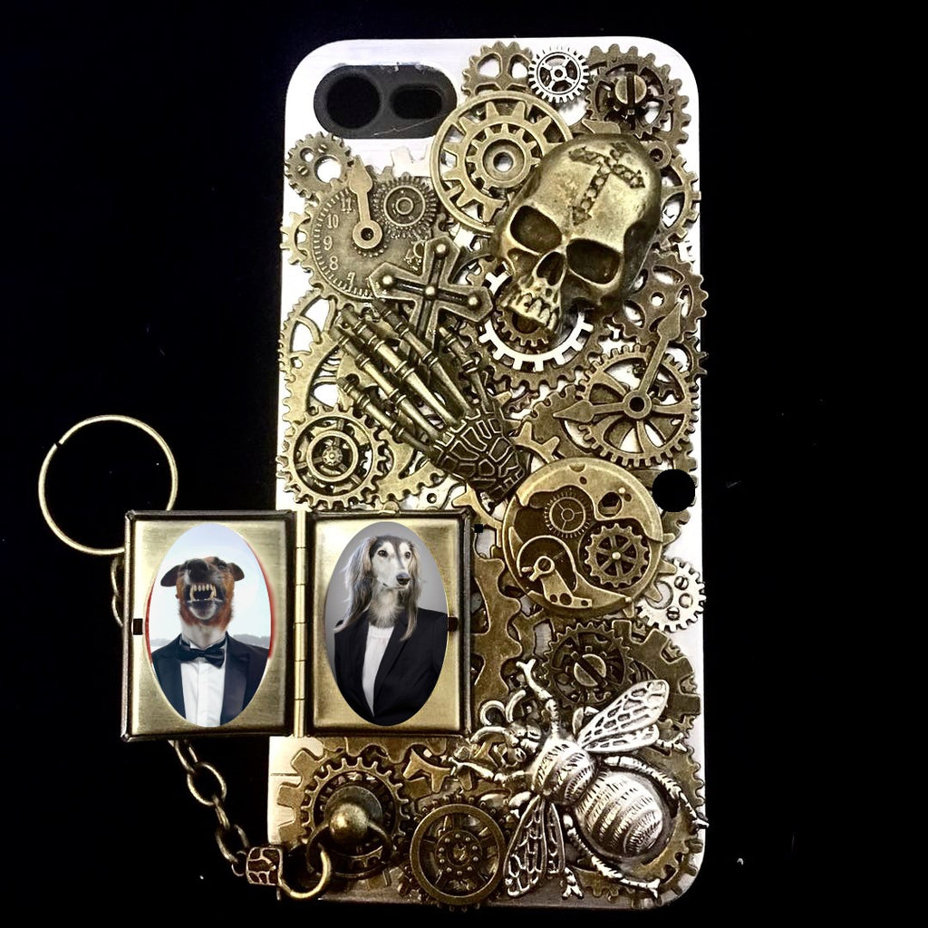 Photo Case Steampunk Skull iPhone Cover