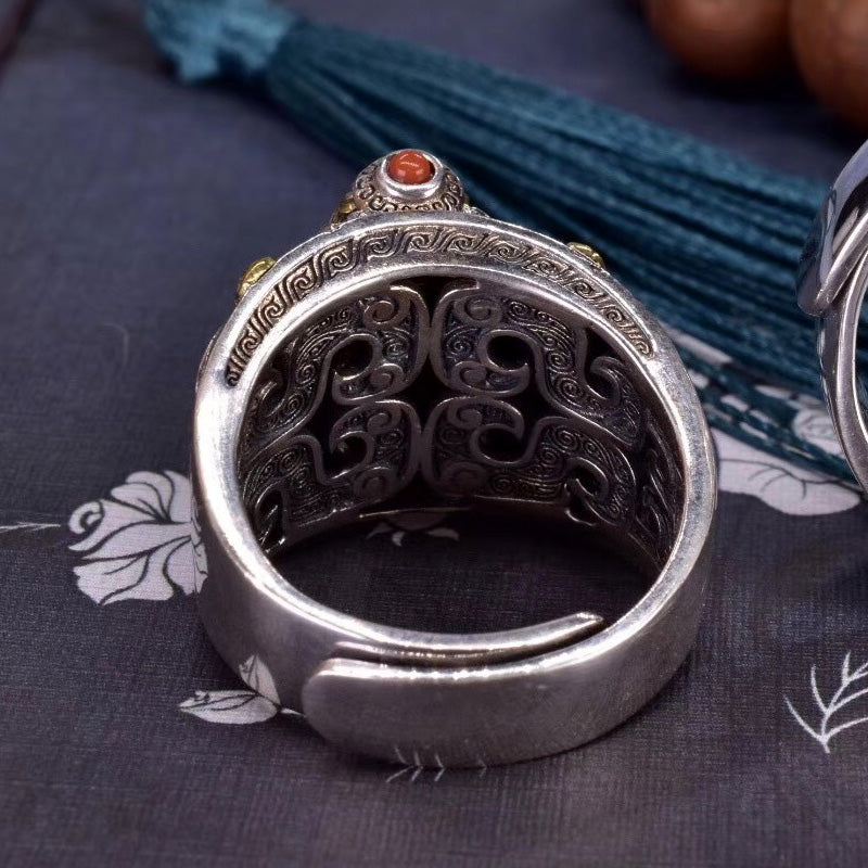 Tibetan Prayer Wheel Ring
