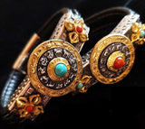 Tibetan Vajra Zodiac Leather Bracelet