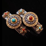 Tibetan Vajra & Spinning Eight Trigrams Leather Bracelet - Holy Buyble